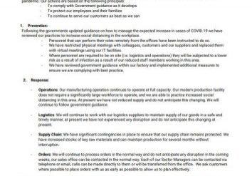 Coronavirus Geofabrics Response